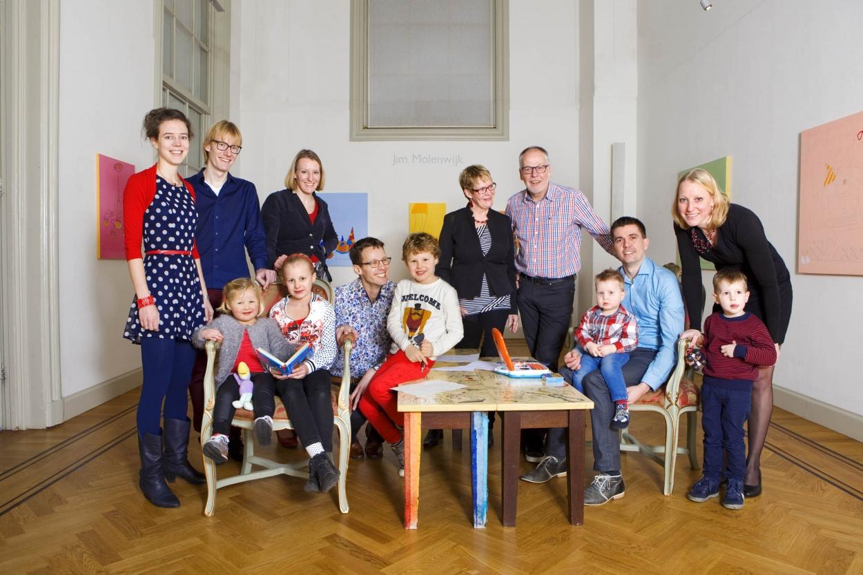 Foto gezinsportret familieportret binnen Den Haag