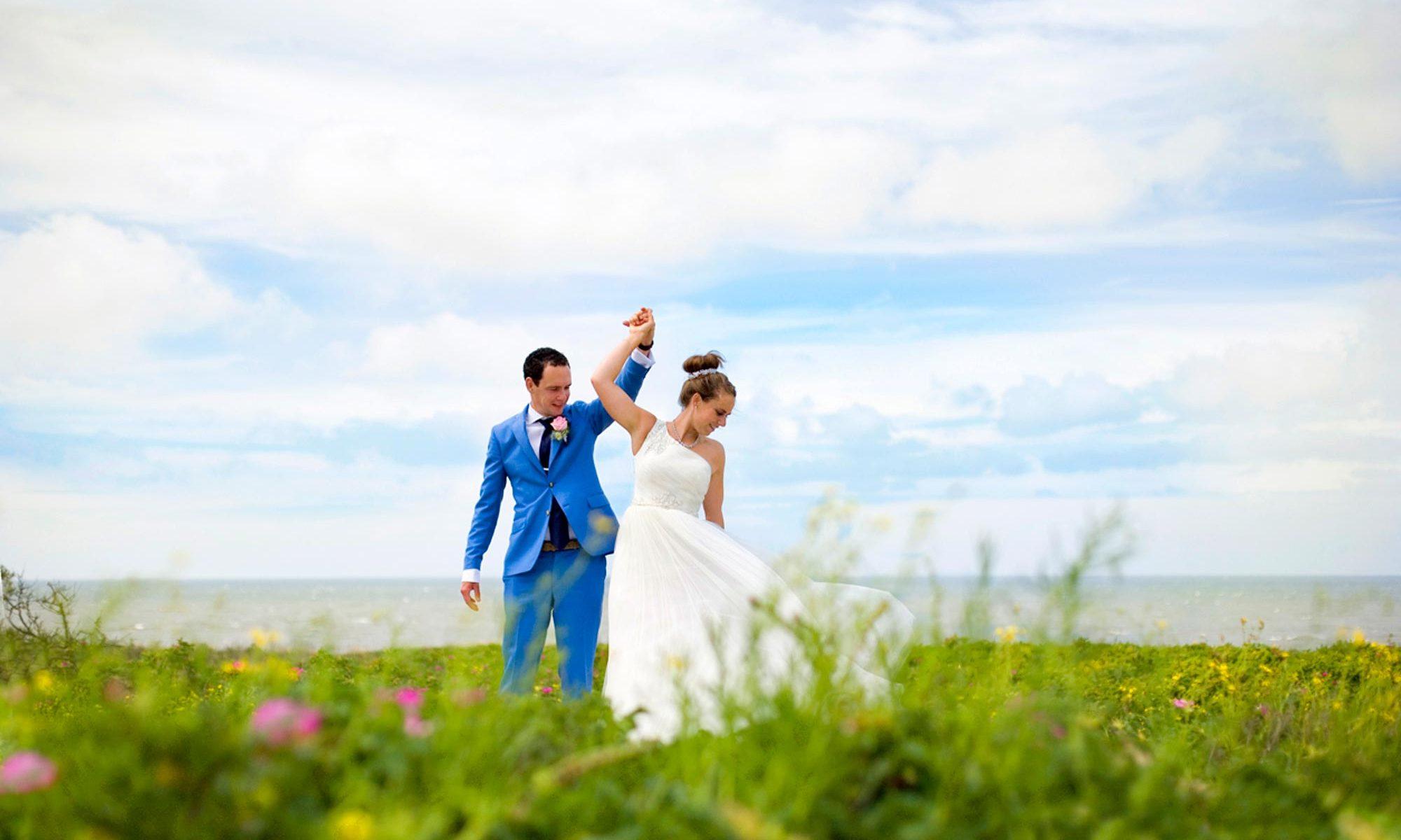professionele trouwfotograaf bruidsreportage duinen Scheveningen